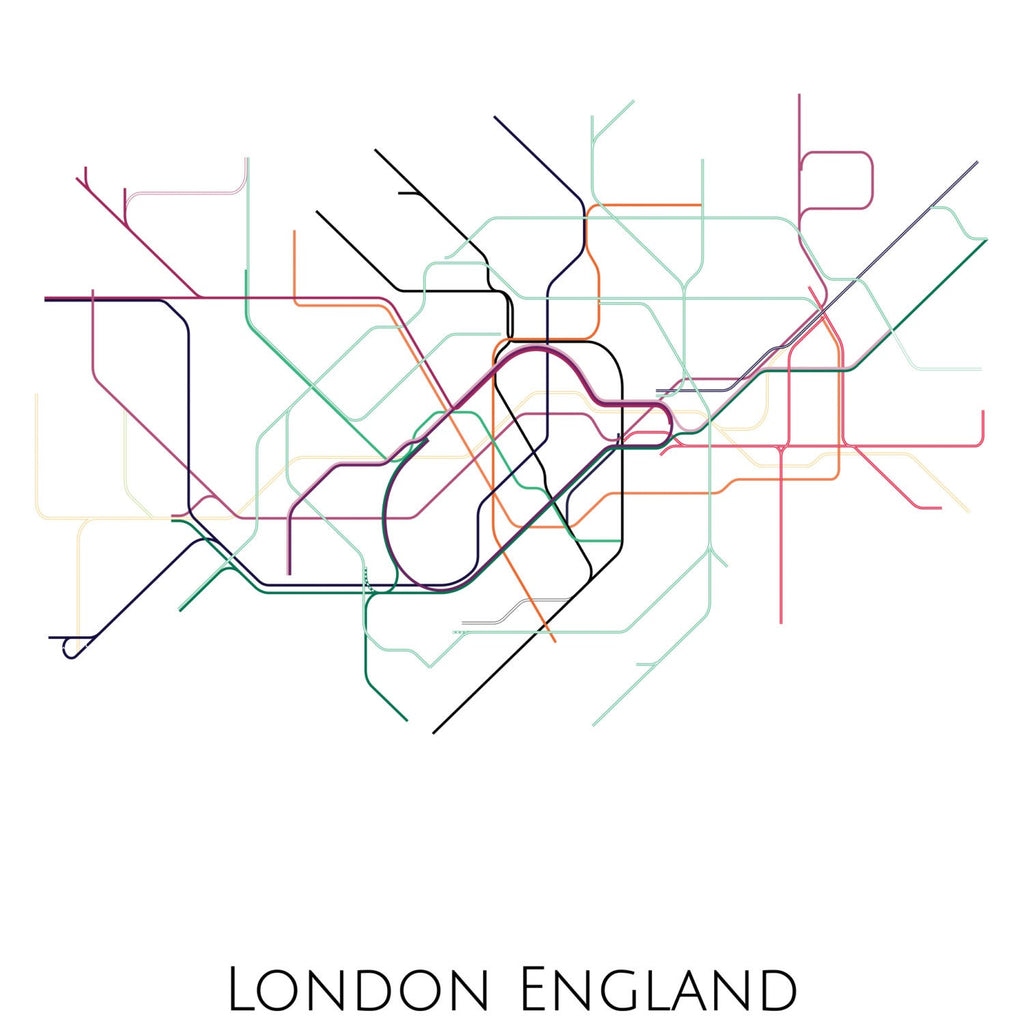 London Map Art, London Tube Map, Transit Map, London Art, London Map Art, Subway Map, Subway Poster Art, London Subway