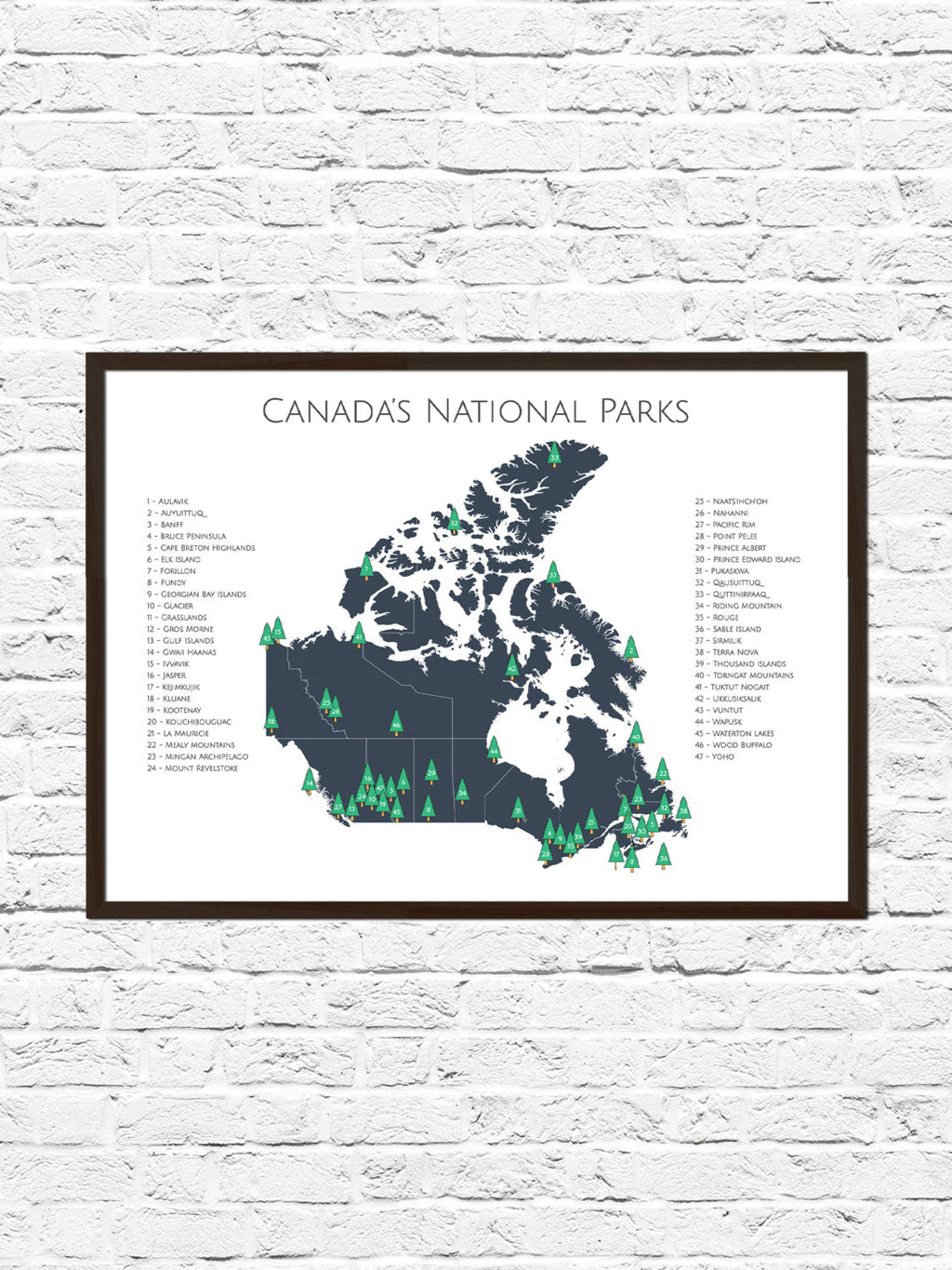 Canada National Park Poster, Canada National Parks Map, Map Art, Adventure Art, Nursery Art, Canada Map Art, Travel Art, Travel Map