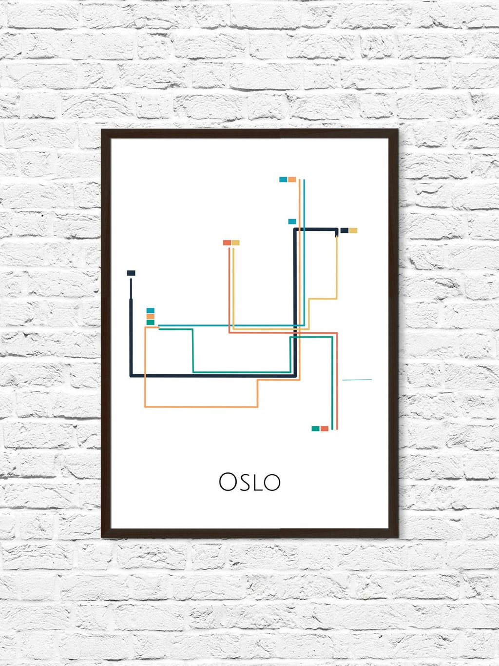 Oslo Metro Map, Oslo T-bane,  Oslo Map Art, Oslo Metro Art, Oslo, Norway, Metro Map, Subway Map, Oslo Print, Oslo Poster - ParMar Media