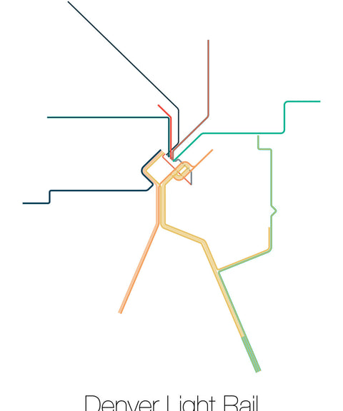 Denver Light Rail Metro Map - ParMar Media