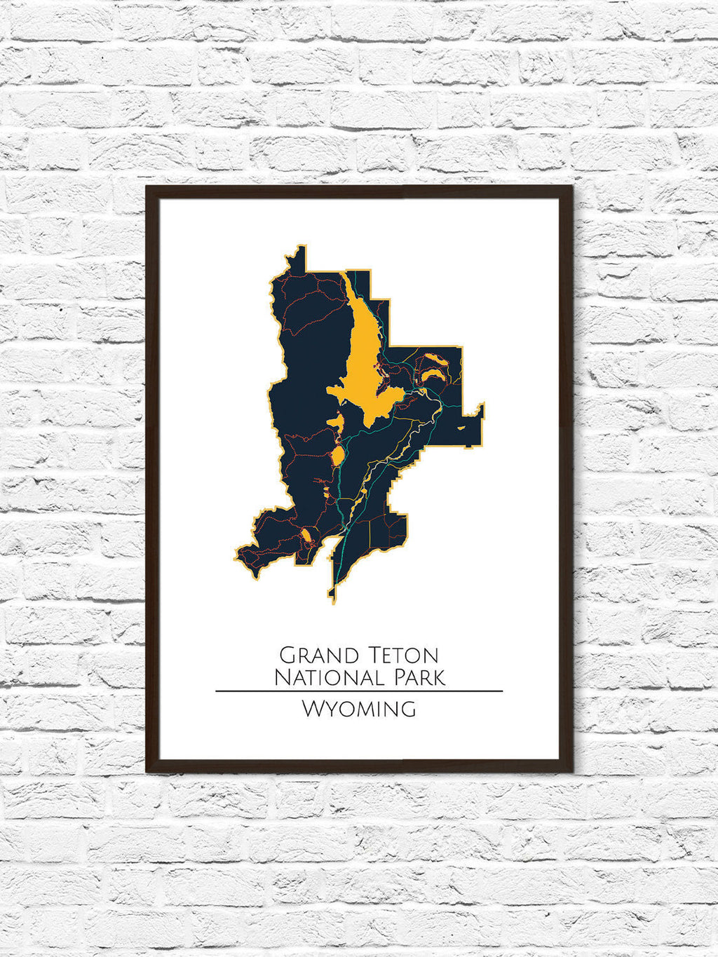 Teton National Park, Tetons, Grand Teton, Minimalist Art, National Park Poster, National Parks Map Travel Map, Explorer, Explorer Print - ParMar Media