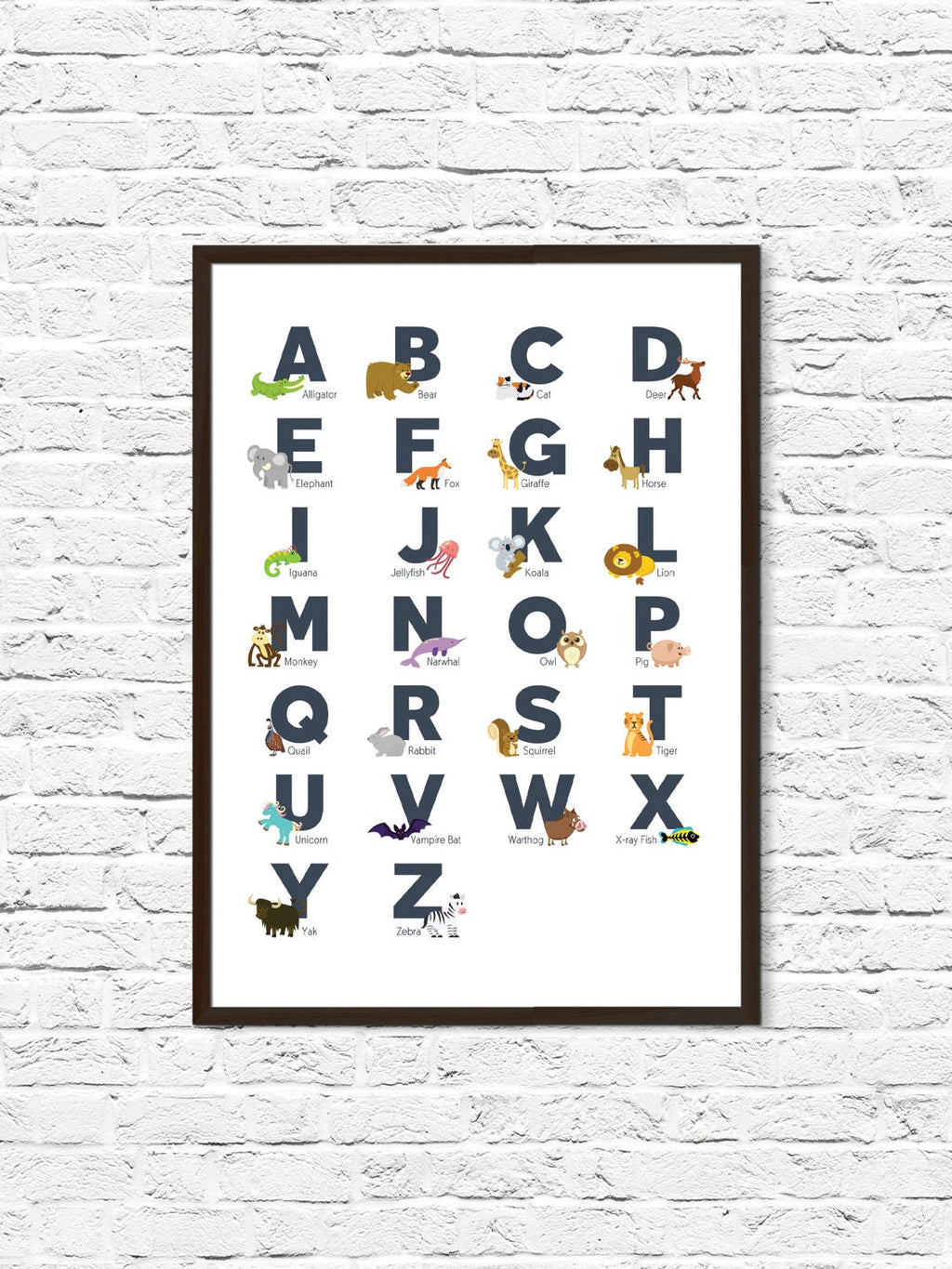Animal Alphabet Nursery Print - ParMar Media
