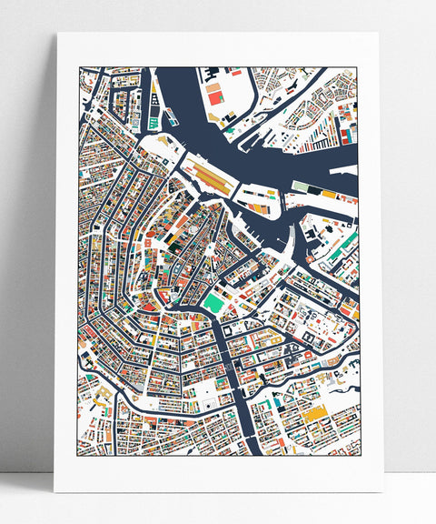 Amsterdam Print Art Map Poster Amsterdam Map Art Print Gift Idea Home Decor Abstract Art Amsterdam Poster Amsterdam Map Print Wall Art