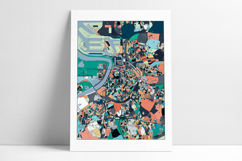 Antwerp Map, Antwerp Print, Antwerp City Map, Antwerp Map Poster, Antwerp Map Print, Antwerp, Belgium, Wall Art Decor