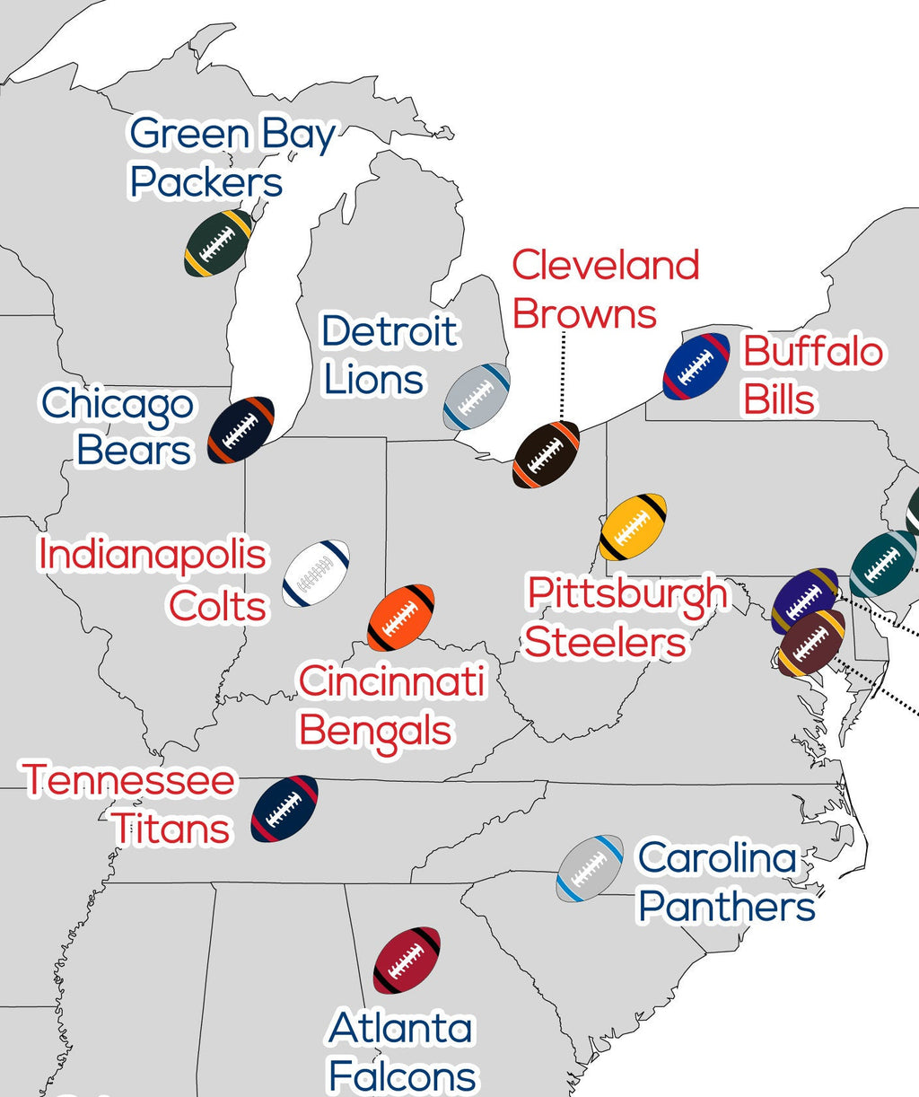 NFL Stadium Map, Football Stadium Map