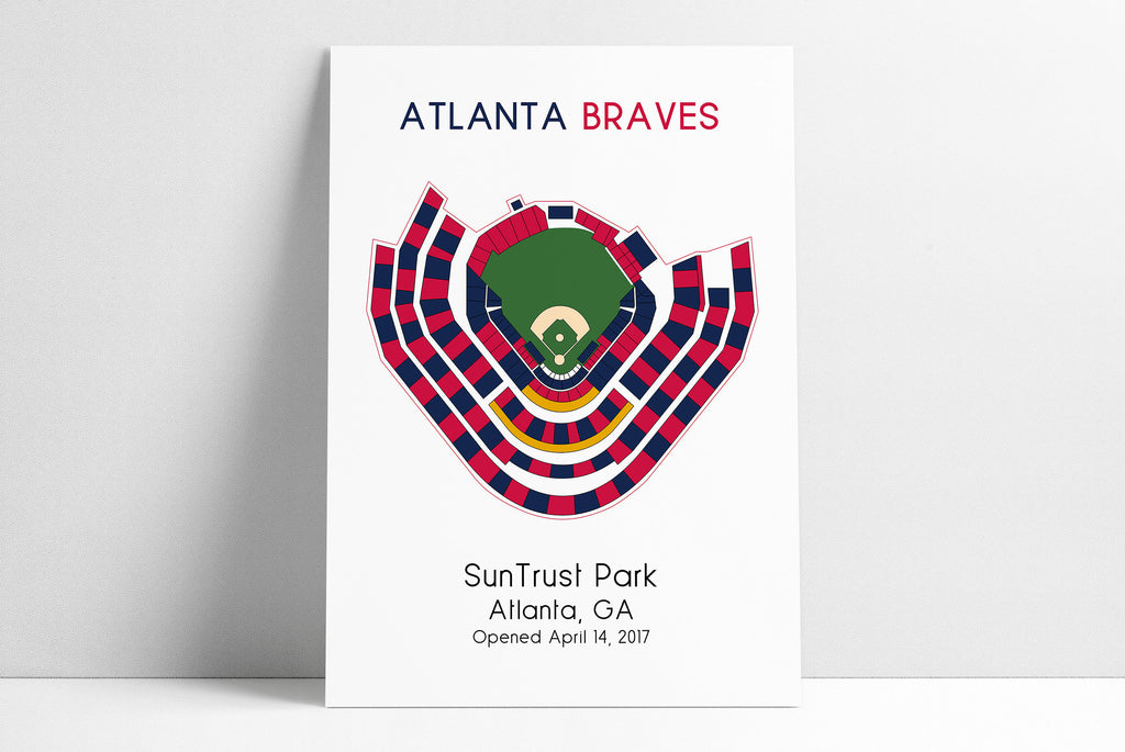 Atlanta Braves MLB Stadium Map, Baseball Stadium Map