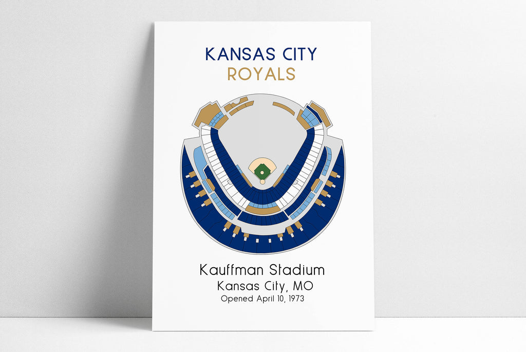 Kansas City Royals Baseball Map, MLB Stadium Map, Ballpark Map, Baseball Stadium Map, Gift for Him, Stadium Seating Chart, Man Cave