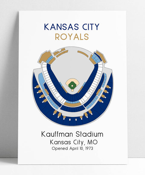 Kansas City Royals Baseball Map, MLB Stadium Map