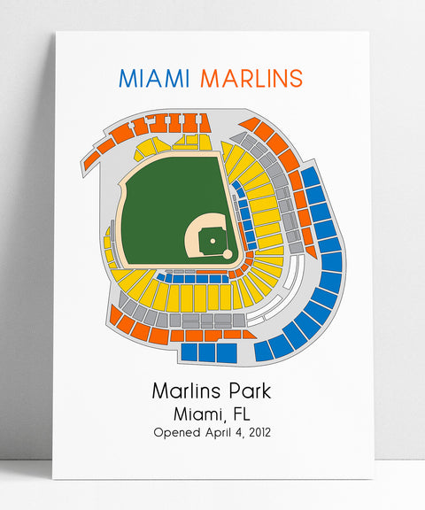 Miami Marlins Baseball Map, MLB Stadium Map