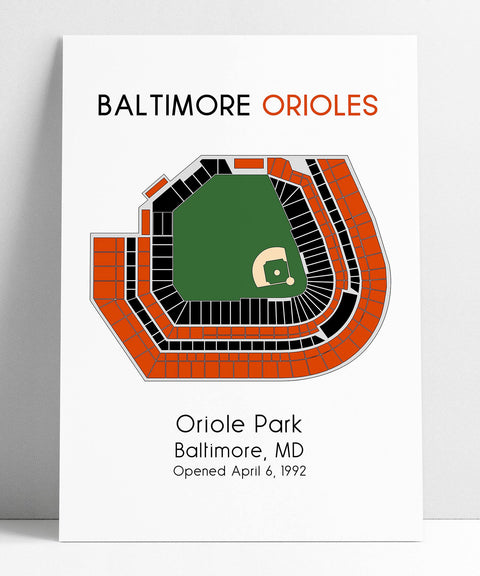 Baltimore Orioles Stadium Map, Baseball Map