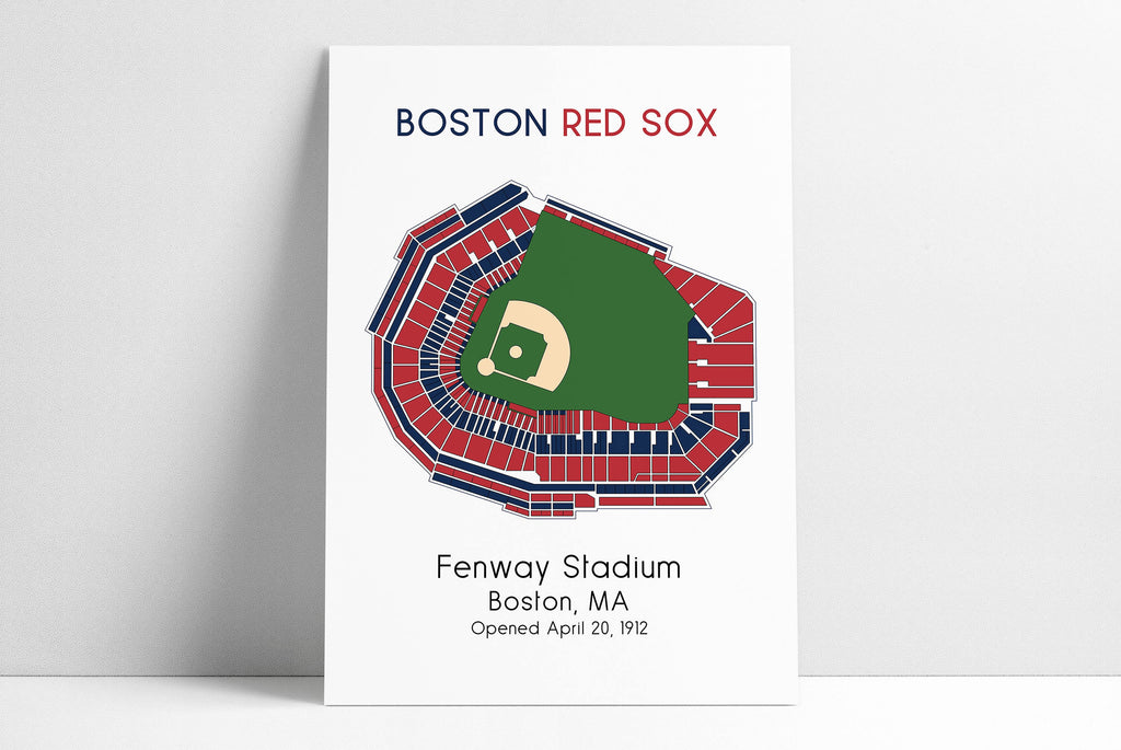 Boston Red Sox Ballpark Map, Fenway Park