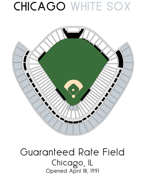 Chicago White Sox MLB Stadium Map, Ballpark Map