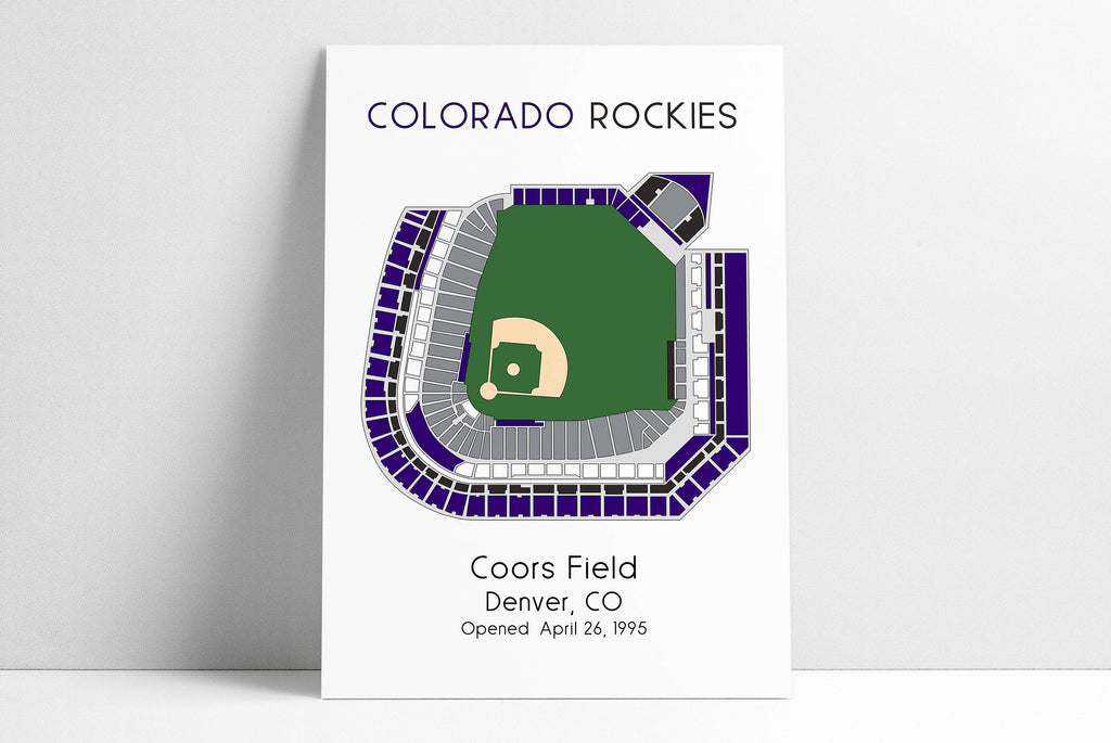 Colorado Rockies MLB Stadium Map, Coors Field