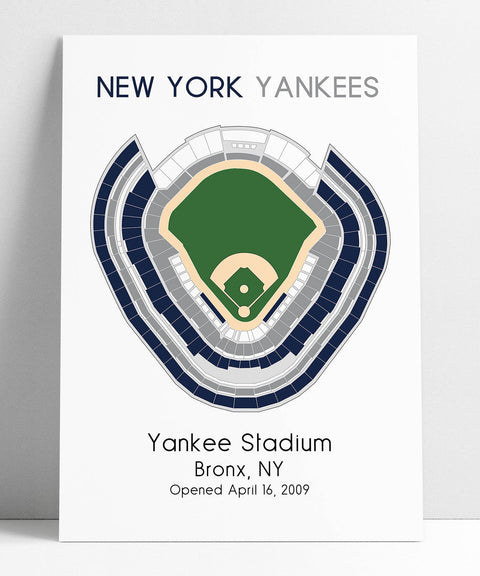 New York Yankees, Yankee Stadium, MLB Stadium Map, Ballpark Map, Baseball Stadium Map, Gift for Him, Stadium Seating Chart, Man Cave