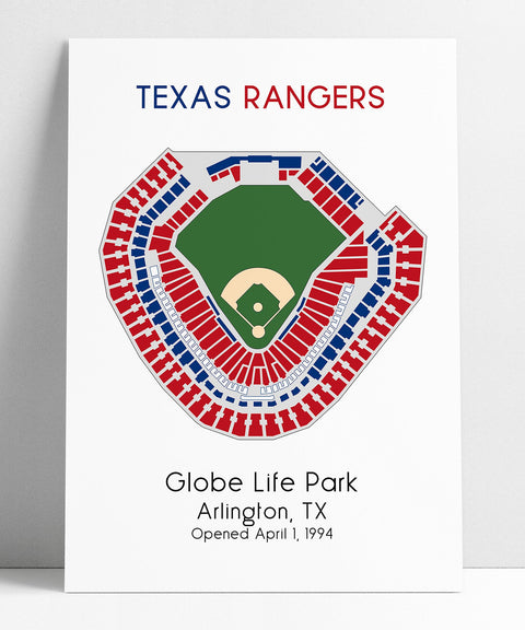 Texas Rangers, MLB Stadium Map