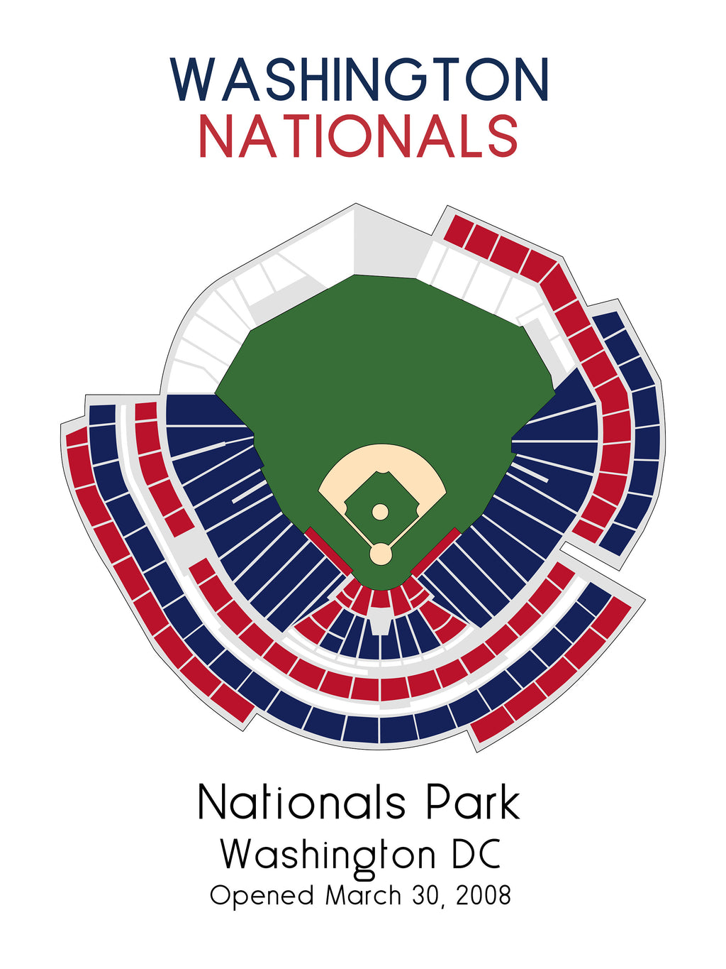 Washington Nationals, MLB Stadium Map