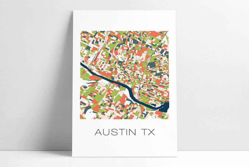 Austin TX Abstract City Map Art Poster Print, Austin Texas, Austin City Streets, Home Decor, Map Art, Austin Print, Austin Map Poster, Texas