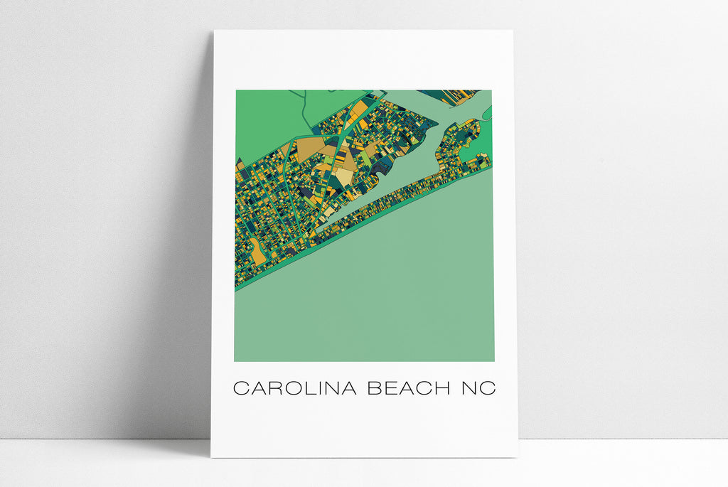 Carolina Beach, CB, Carolina Beach NC, Carolina Beach Map, Beach House, Wall Art, Map Art, Carolina Beach Poster, Beach, 10 Color Options