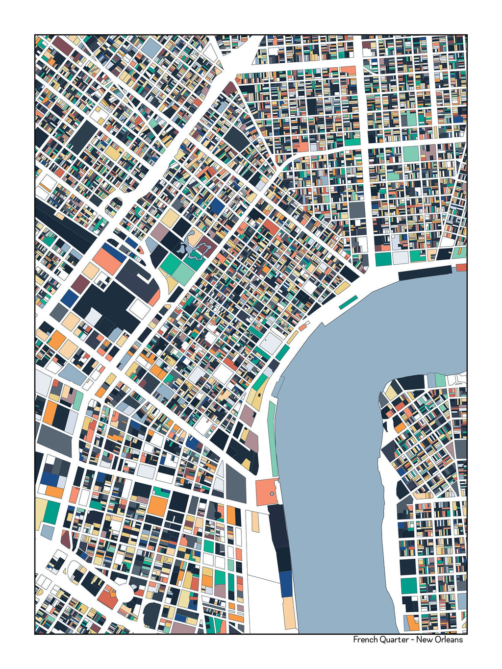 It is a photo of Printable Maps of New Orleans with regard to full page