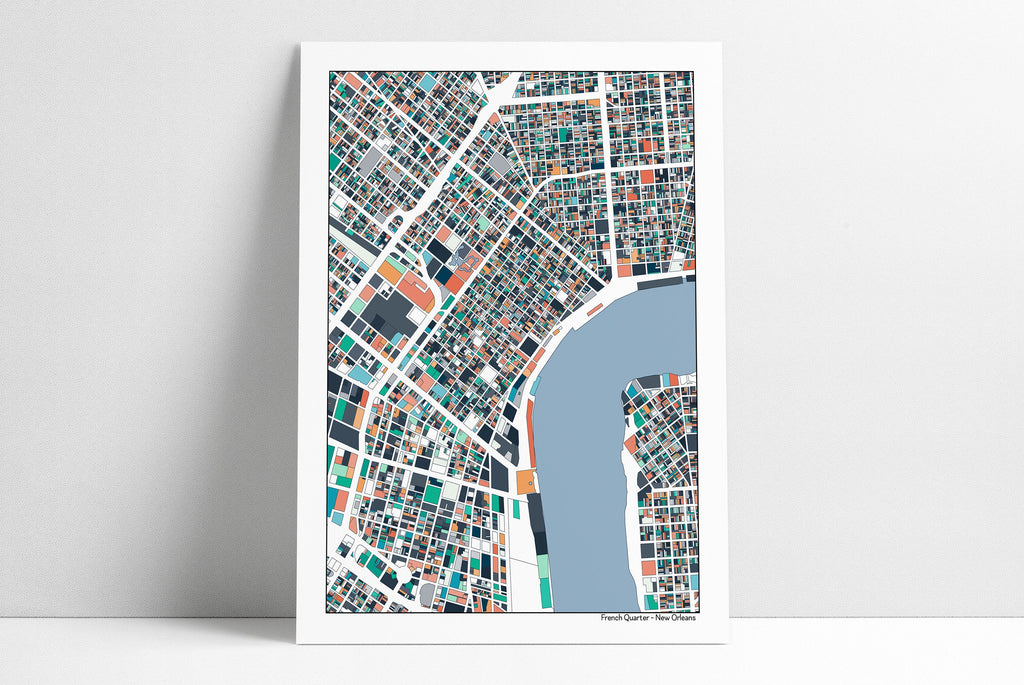 graphic regarding French Quarter Map Printable named French Quarter Clean Orleans LA - 5x7 / C1