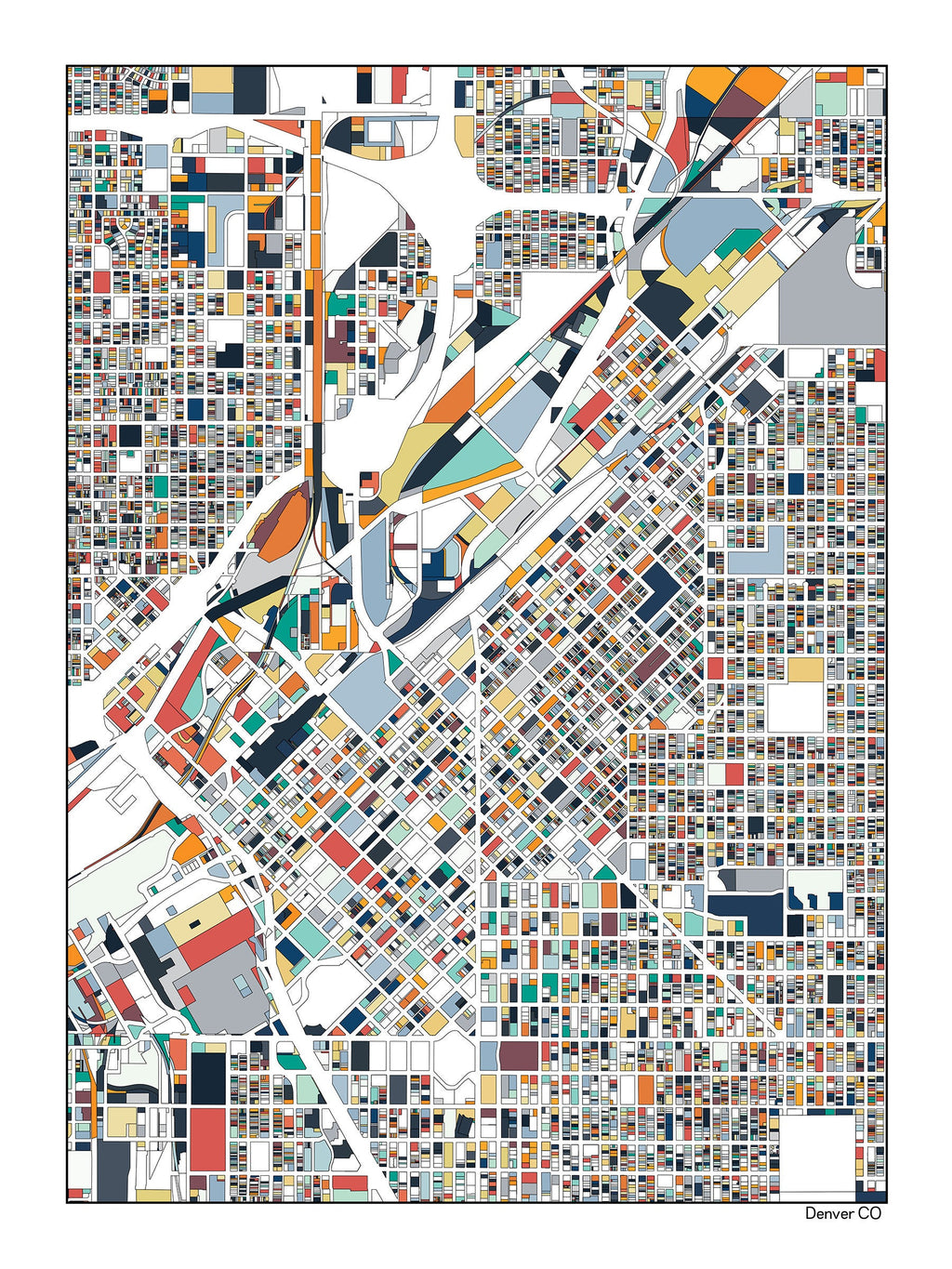 Denver Colorado Art Map Print Poster Wall Art Home Decor Office Decor Denver CO Gift Print Abstract Art