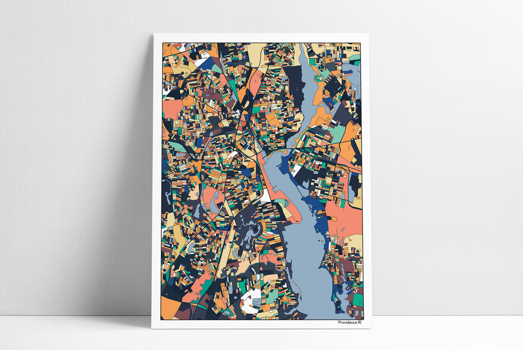 Providence RI Wall Art Map Print Poster Housewarming Gift Providence Art Poster Wall Art Home Decor Office Decor Gift Print Abstract Art