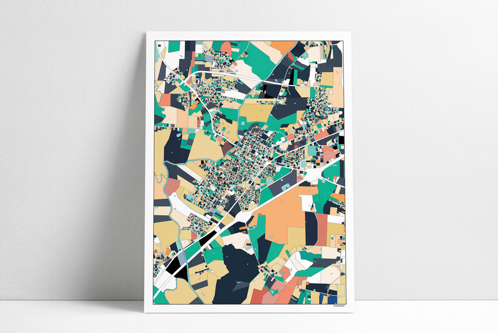 Smithfield NC Wall Art Map Print Poster Housewarming Gift Smithfield Poster Wall Art Home Decor Office Decor Gift Print Abstract Art
