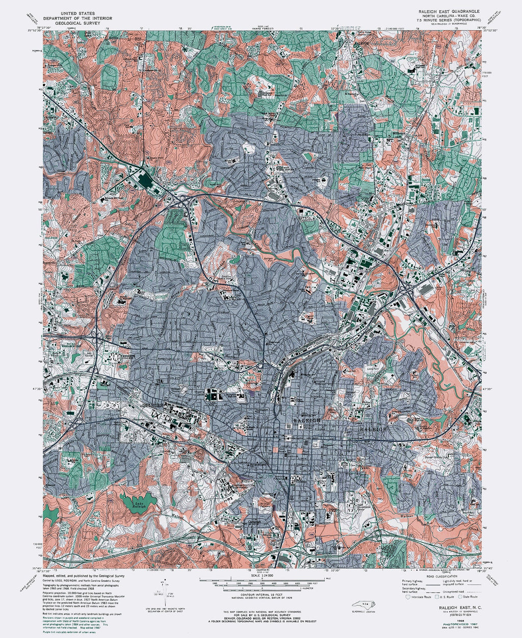 Topo Raleigh NC Map Print Wall Art Raleigh Poster Home Decor Office Decor Gift Raleigh North Carolina