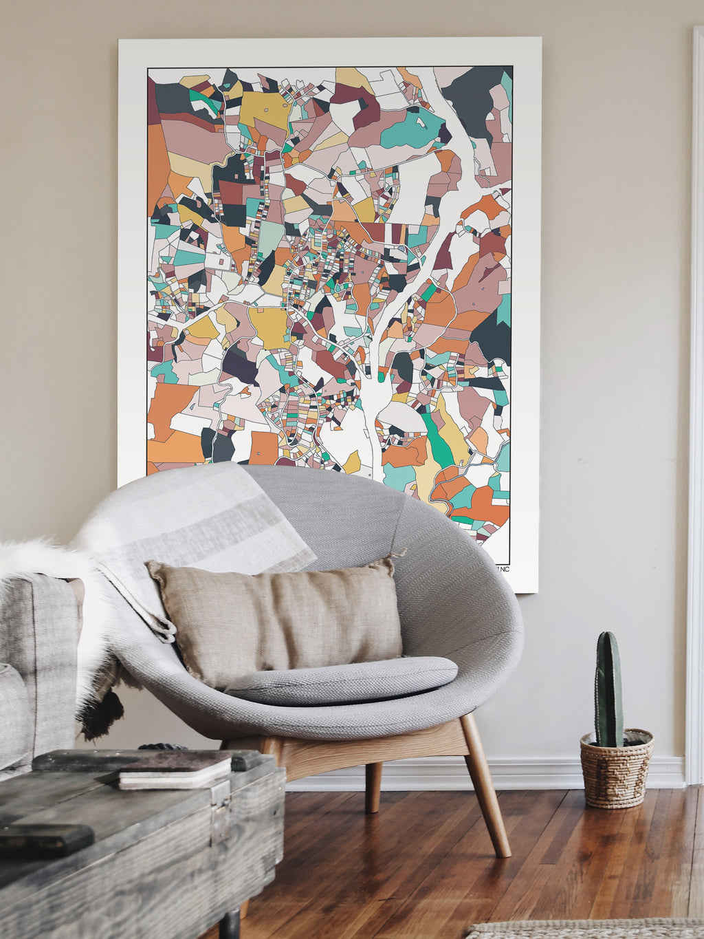 Mars Hill NC Mountains Map Art Print Wall Art Housewarming Gift Abstract Art Poster Mars Hill North Carolina Mountains Artwork Home Town