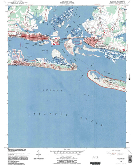 Beaufort North Carolina Vintage Map Print - ParMar Media - 1