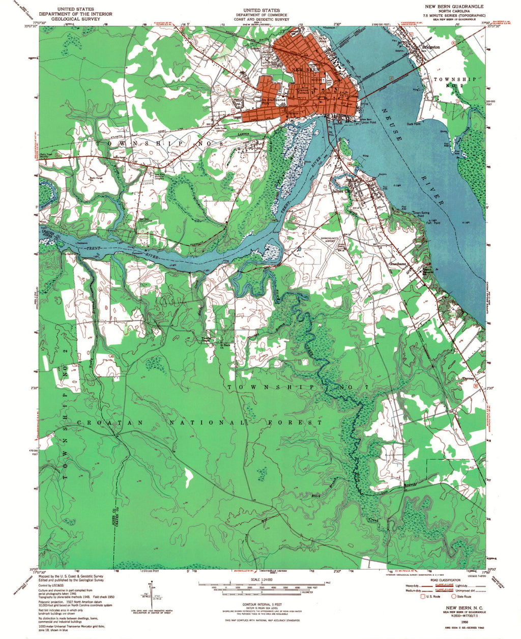 New Bern North Carolina Map Art - ParMar Media - 2