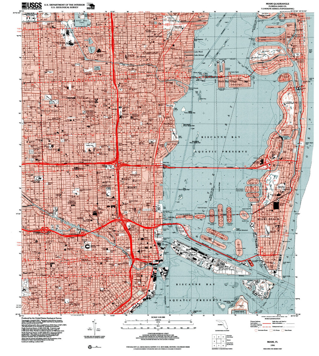 Miami Florida Map Print - ParMar Media - 2