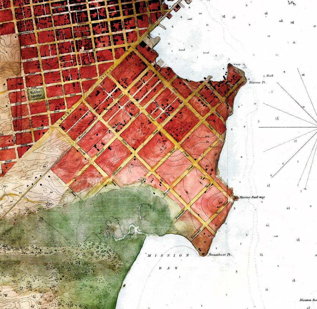 San Francisco California Map Art - ParMar Media - 2