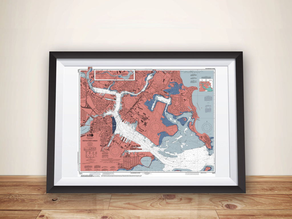 Boston MA Map Poster - ParMar Media