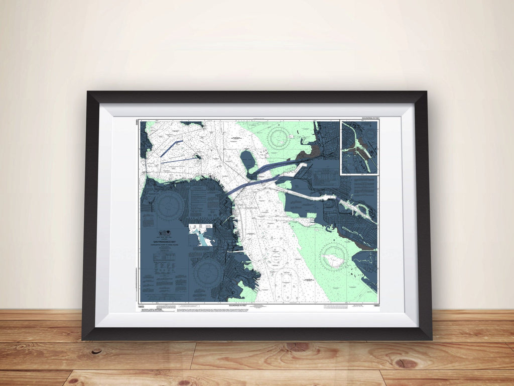 San Francisco Art, San Francisco Print, San Francisco, Nautical Chart, San Francisco Map, Map Art, San Francisco Poster, Bay Area