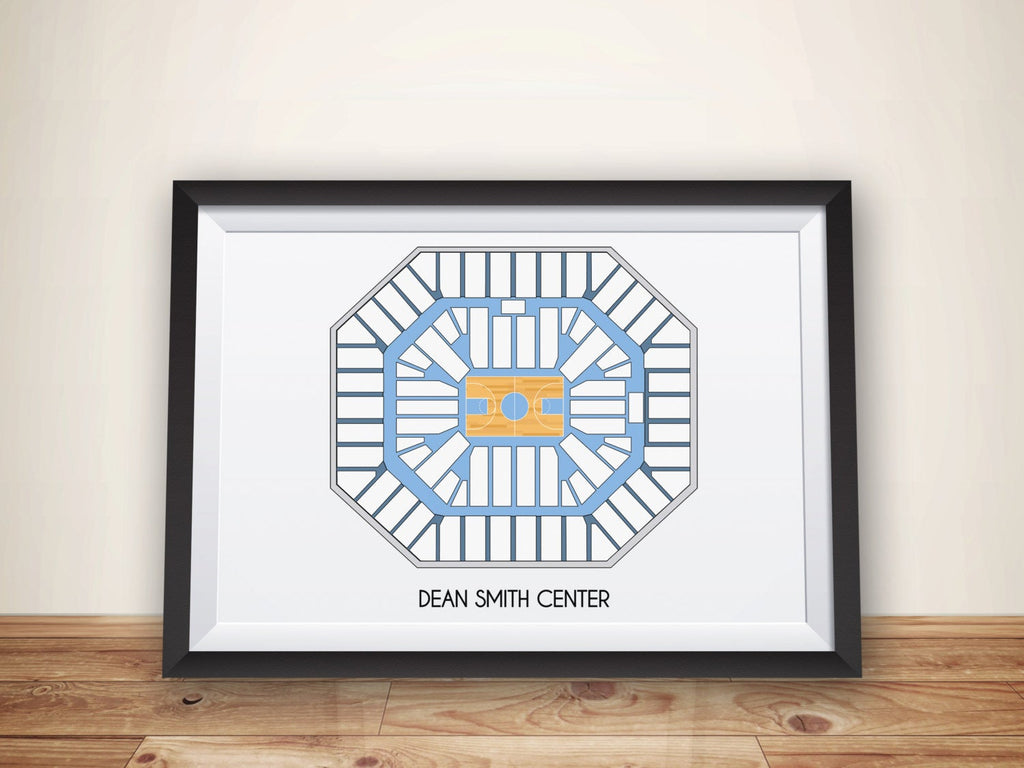 UNC Tarheels, UNC Wall Art, Dean Dome, unc Chapel Hill, Tarheels Print, ACC Basketball, Basketball, Carolina Tarheels, Smith Center