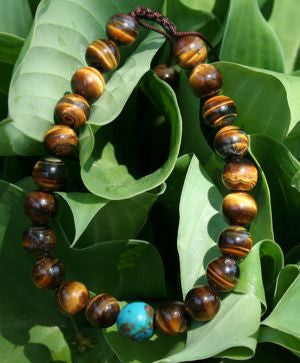 Tiger eye Wrist Mala with Turquoise