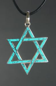 Turquoise Star of David