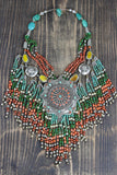 Pendulous Beaded Tibetan Necklace