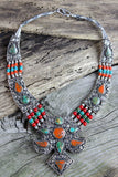 Silver Edged Tibetan Necklace
