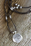 Hand Stamped Om Necklace