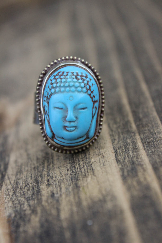 Safe Journey Adjustable Buddha Ring