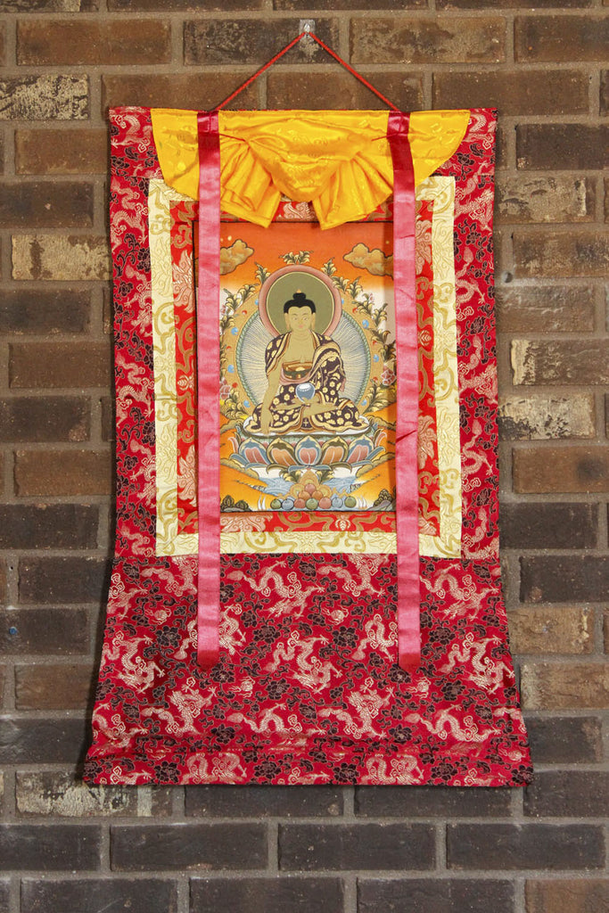Framed Gold Shakyamuni Thangka