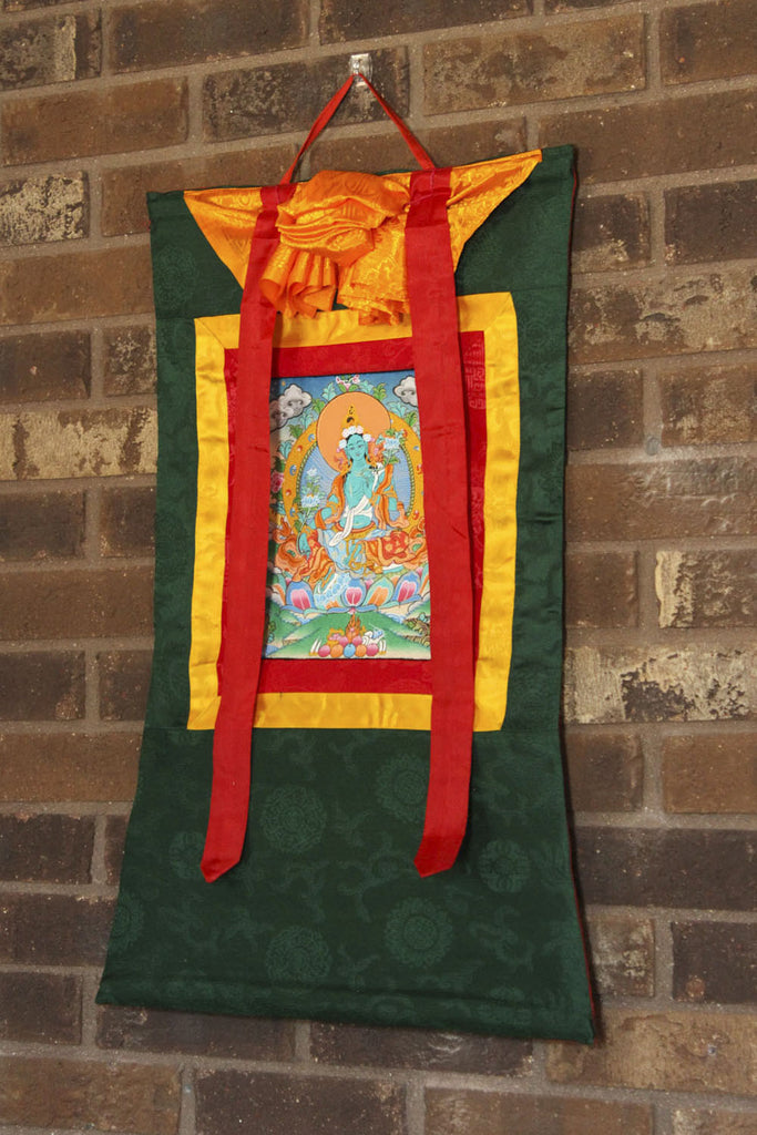 Green Tara Savioress Thangka