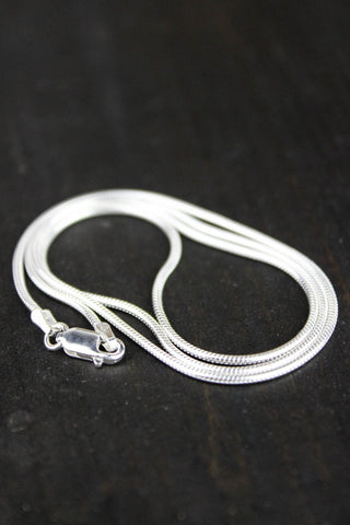 18 Inch Silver Snake Chain