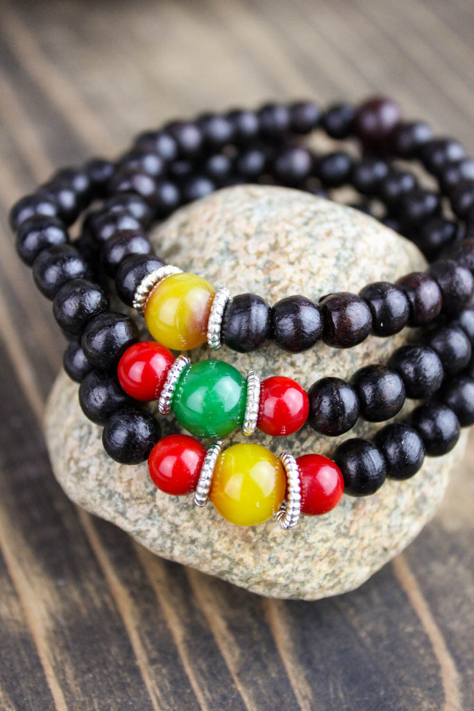 Our Rosewood Wrist Mala Stack! - NEW