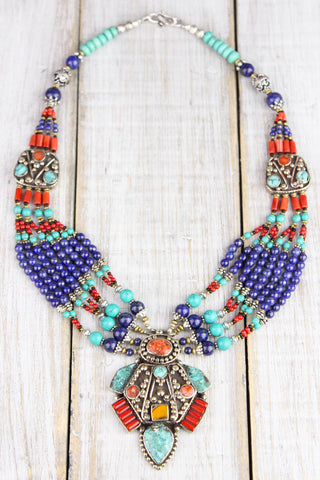 Amazing Tibetan Showpiece Necklace
