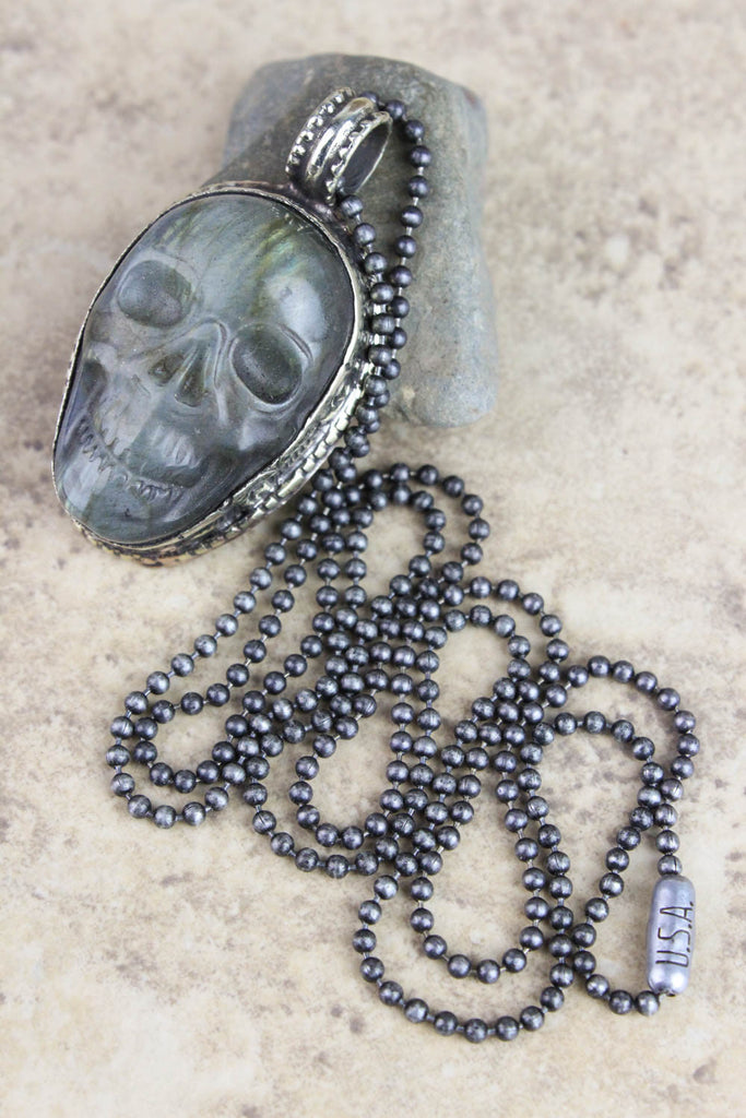 Air of Creativity and Instinct Small Skull Necklace