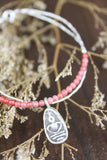 Thai Amulet Charm Bracelet with Rose Quartz
