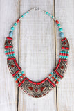 Coral and Turquoise Harmony Necklace